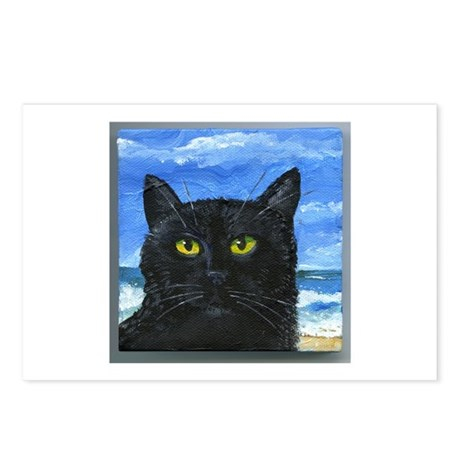 Black Cat at Capitola Postcards (Package of 8)