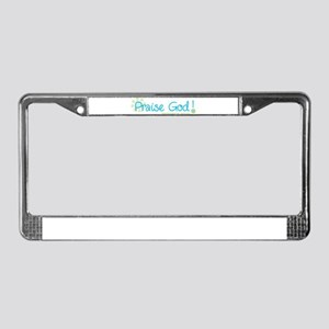 Praise God License Plate Frame