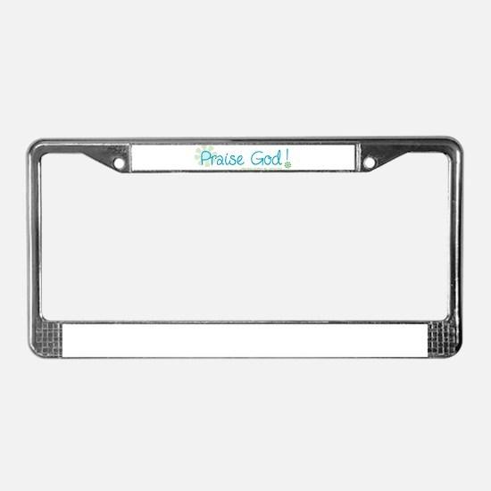Praise God License Plate Frame