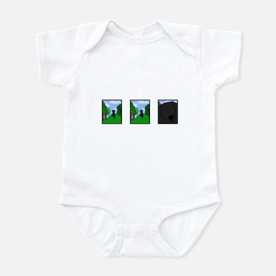 Comic Strip Black Lab Infant Creeper