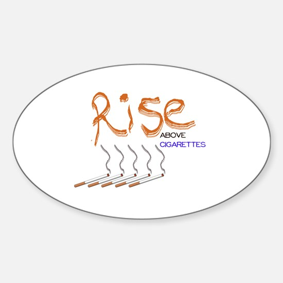 Rise Above Smoking Sticker (Oval)