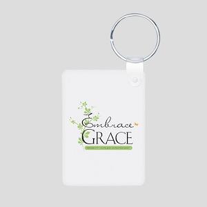 Embrace Grace Aluminum Photo Keychain