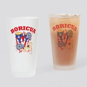 Puerto Rican Congas Drinking Glass