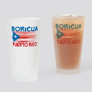 Puerto Rico Stripes Drinking Glass