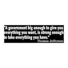 Thomas Jefferson Quote 42x14 Wall Peel