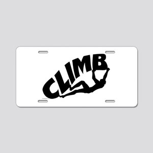 Rock Bouldering Aluminum License Plate