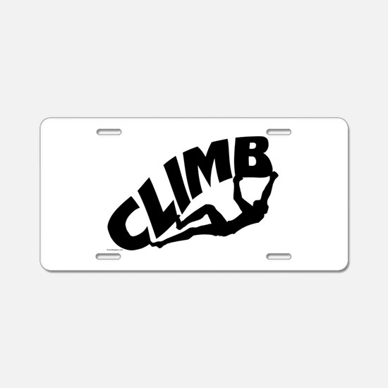 Rock Bouldering Aluminum License Plate