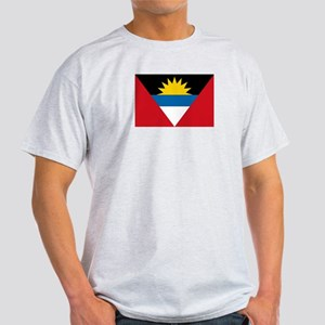 Antigua & Barbuda Flag Ash Grey T-Shirt