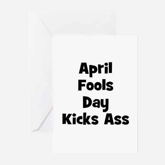 April Fools Day Kicks Ass Greeting Cards (Package