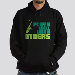 Saxophone (Plays Well With Others) Hoodie (dark)