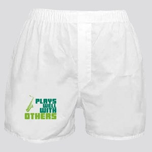 Saxophone (Plays Well With Others) Boxer Shorts