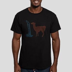 Dolly Llama Men's Fitted T-Shirt (dark)