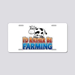 Farmville Inspired Cow Aluminum License Plate