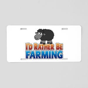 Cartoon Farmville Sheep Aluminum License Plate