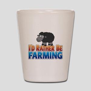 Cartoon Farmville Sheep Shot Glass