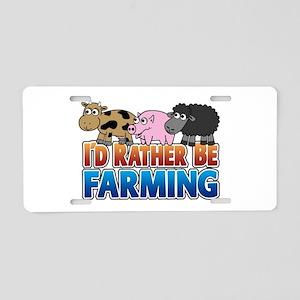 Farmville Inspired 3 animals Aluminum License Plat