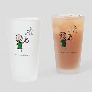 """Coffee: my legal upper"" Drinking Glass"