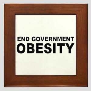 End Government Obesity Framed Tile