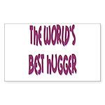 World's Best Hugger Sticker (Rectangle 50 pk)