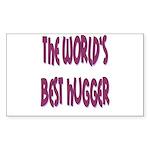 World's Best Hugger Sticker (Rectangle 10 pk)