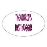 World's Best Hugger Sticker (Oval 10 pk)