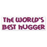 World's Best Hugger Sticker (Bumper)