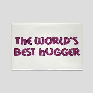 World's Best Hugger Rectangle Magnet (10 pack)