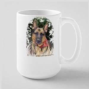 """German Shepherd """"Ripkin"""" Large Mug"""