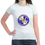 Minuteman Border Patrol ct Jr. Ringer T-Shirt