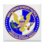 Minuteman Border Patrol ct Tile Coaster