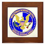 Minuteman Border Patrol ct Framed Tile