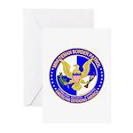 Minuteman Border Patrol ct Greeting Cards (Package