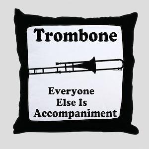 Trombone Gift Music Joke Throw Pillow