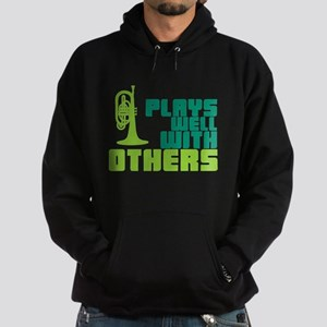 Mellophone (Plays Well With Others) Hoodie (dark)