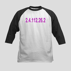2.4.112.56.2 Blue and Pink Kids Baseball Jersey