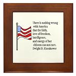 America Framed Tile