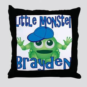 Little Monster Brayden Throw Pillow