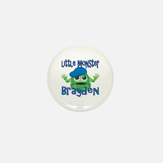 Little Monster Brayden Mini Button