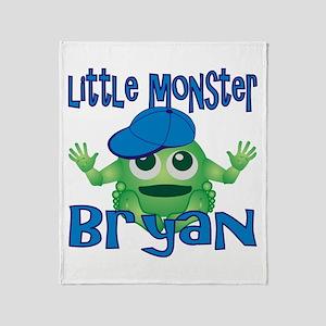 Little Monster Bryan Throw Blanket