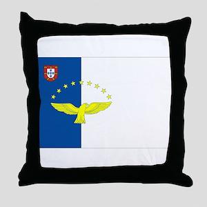 Azores Flag Throw Pillow