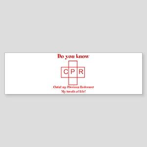 CPR Sticker (Bumper)