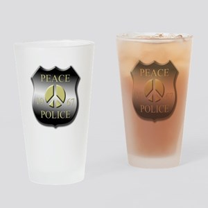 Peace Police Drinking Glass