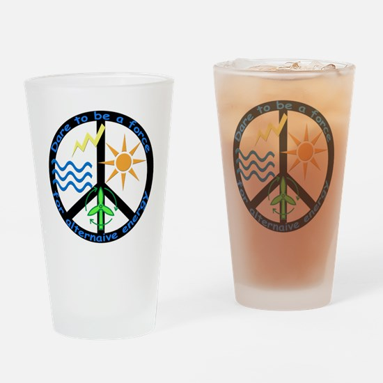 Force For Alternative Energy Drinking Glass
