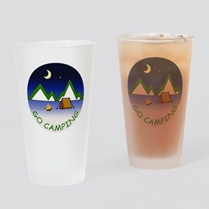 Go Camping Drinking Glass
