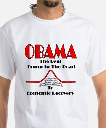 The Real Bump in the Economic Road White T-Shirt
