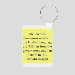 Ronald Reagan quote Aluminum Photo Keychain