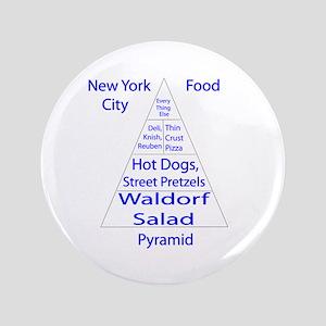 "New York City Food Pyramid 3.5"" Button"