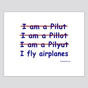 I Fly Airplanes Small Poster
