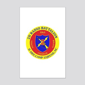 2nd Radio Battalion with Text Mini Poster Print