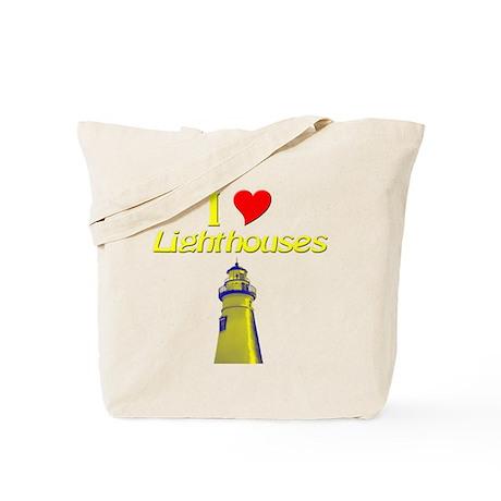I love Lighthouses Tote Bag